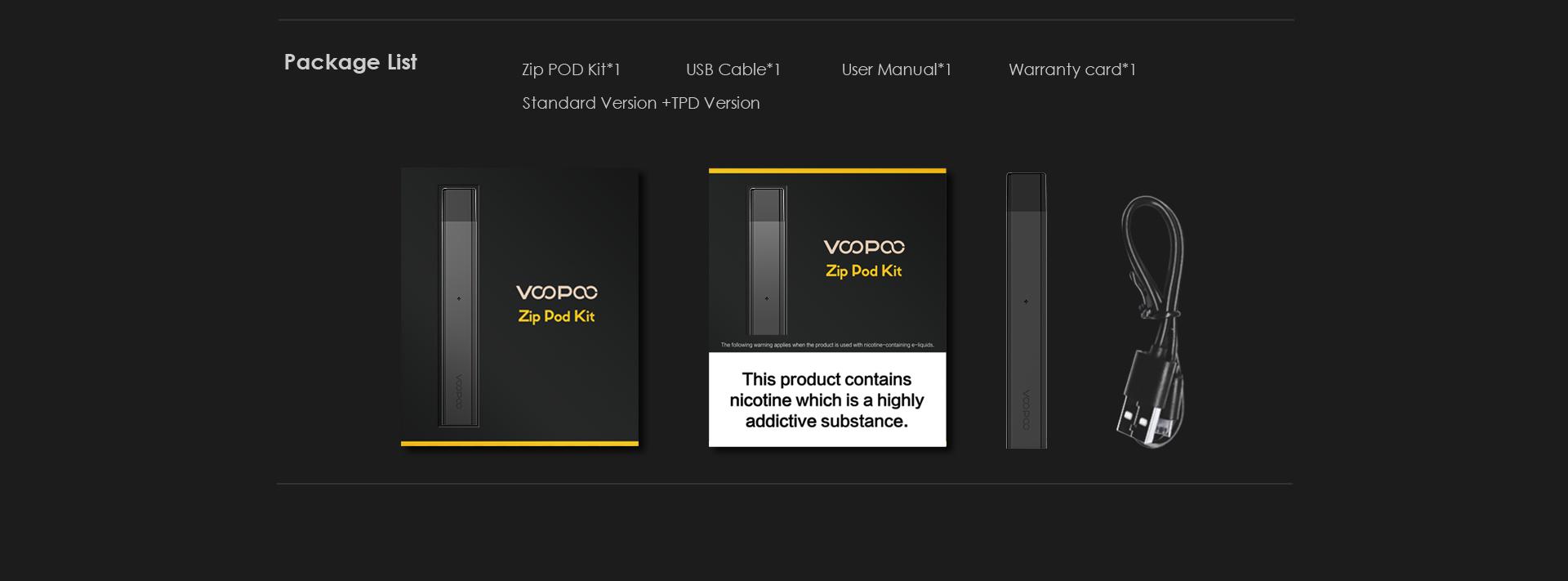 alpha zip pod specifications